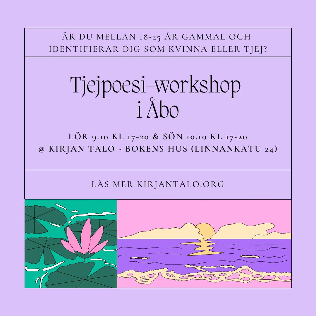 Tjejpoesi-workshop i Åbo – Turkulaisen tyttörunouden työpaja